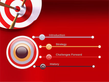 Red Target PowerPoint Template Slide 3