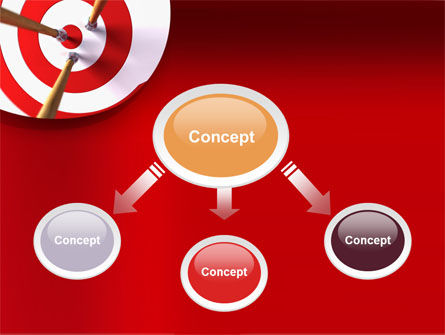 Red Target PowerPoint Template Slide 4