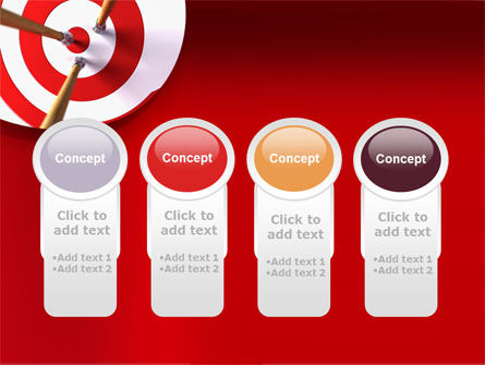 Red Target PowerPoint Template Slide 5