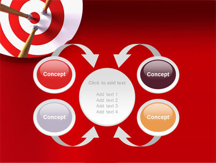 Red Target PowerPoint Template Slide 6