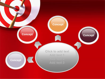 Red Target PowerPoint Template Slide 7