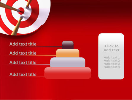 Red Target PowerPoint Template Slide 8