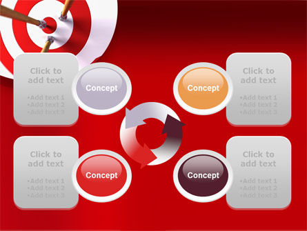 Red Target PowerPoint Template Slide 9