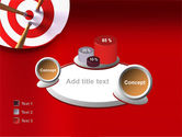 Red Target PowerPoint Template#16