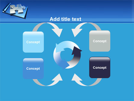 Jigsaw Sketch PowerPoint Template Slide 6