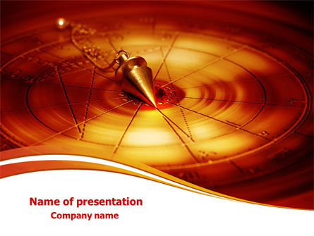 Foucault Pendulum PowerPoint Template, 08118, Consulting — PoweredTemplate.com