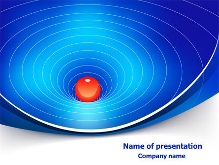 Education & Training: Space-Time Distortion PowerPoint Template #08119