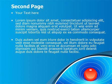 Space-Time Distortion PowerPoint Template, Slide 2, 08119, Education & Training — PoweredTemplate.com