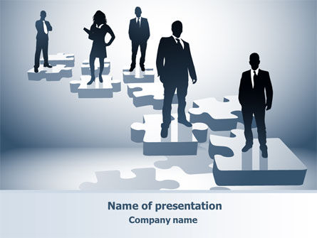 Career Stages PowerPoint Template, 08120, Careers/Industry — PoweredTemplate.com