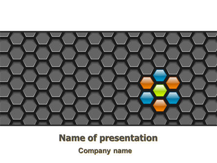 Abstract Gray Honeycomb PowerPoint Template