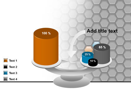 Abstract Gray Honeycomb PowerPoint Template Slide 10