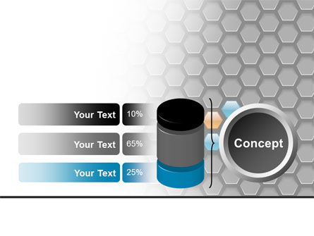 Abstract Gray Honeycomb PowerPoint Template Slide 11