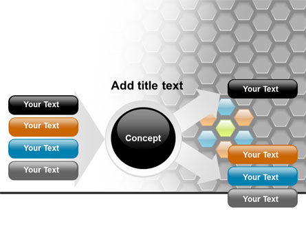 Abstract Gray Honeycomb PowerPoint Template Slide 14