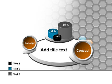 Abstract Gray Honeycomb PowerPoint Template Slide 16
