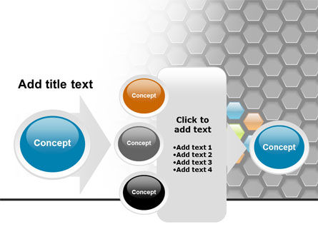 Abstract Gray Honeycomb PowerPoint Template Slide 17