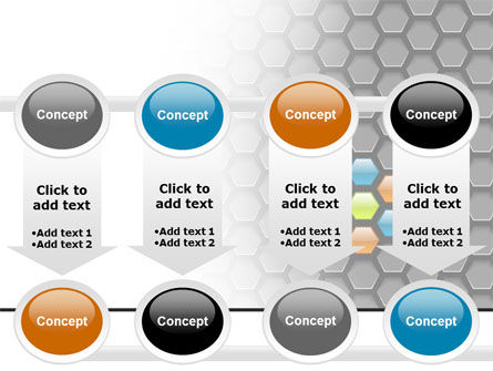 Abstract Gray Honeycomb PowerPoint Template Slide 18