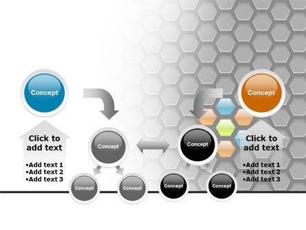 Abstract Gray Honeycomb PowerPoint Template Slide 19