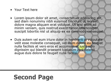 Abstract Gray Honeycomb PowerPoint Template Slide 2