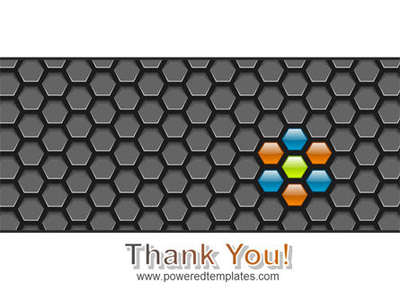 Abstract Gray Honeycomb PowerPoint Template Slide 20