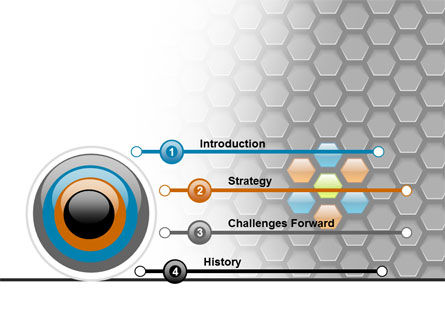 Abstract Gray Honeycomb PowerPoint Template Slide 3