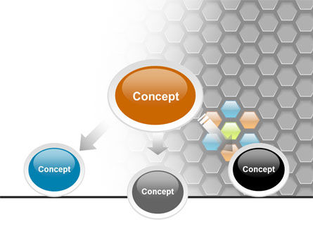 Abstract Gray Honeycomb PowerPoint Template Slide 4