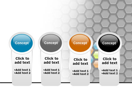 Abstract Gray Honeycomb PowerPoint Template Slide 5