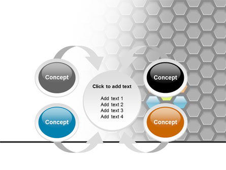 Abstract Gray Honeycomb PowerPoint Template Slide 6