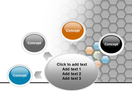 Abstract Gray Honeycomb PowerPoint Template Slide 7