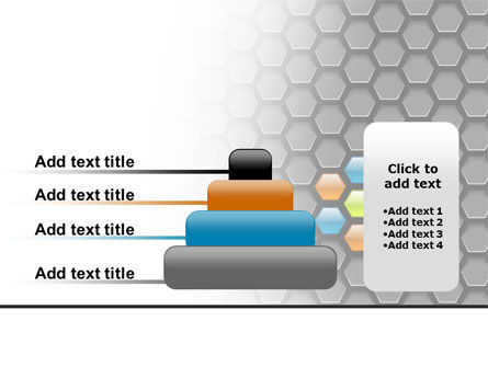 Abstract Gray Honeycomb PowerPoint Template Slide 8