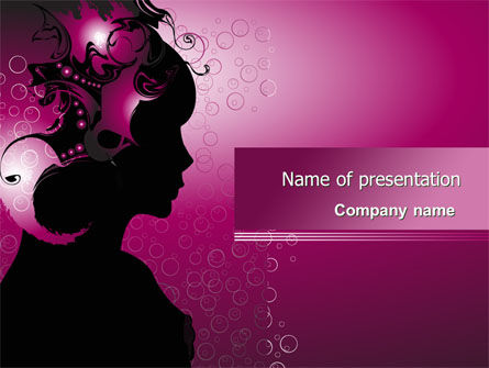 Careers/Industry: Woman PowerPoint Template #08123