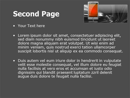 Touchscreen Phone PowerPoint Template Slide 2
