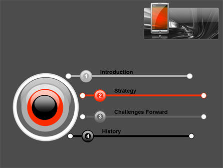 Touchscreen Phone PowerPoint Template Slide 3