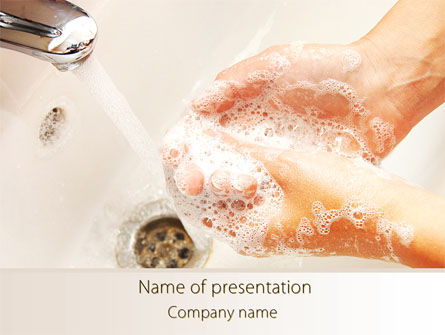Hand Washing PowerPoint Template, 08126, Medical — PoweredTemplate.com