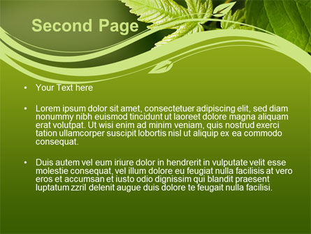 Forest Leaf PowerPoint Template, Slide 2, 08128, Nature & Environment — PoweredTemplate.com