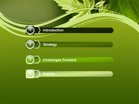 Forest Leaf PowerPoint Template, Slide 3, 08128, Nature & Environment — PoweredTemplate.com