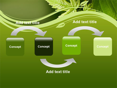 Forest Leaf PowerPoint Template, Slide 4, 08128, Nature & Environment — PoweredTemplate.com
