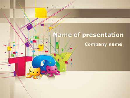 Toy Theme PowerPoint Template, 08129, Careers/Industry — PoweredTemplate.com