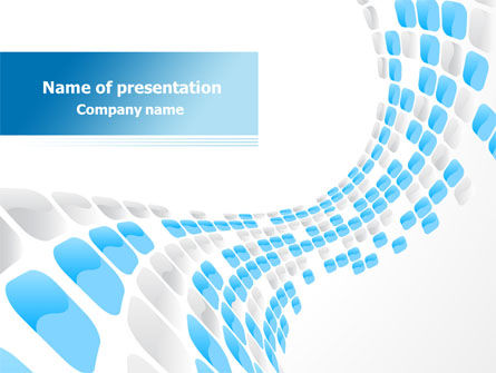Abstract/Textures: Blue Dots PowerPoint Template #08130