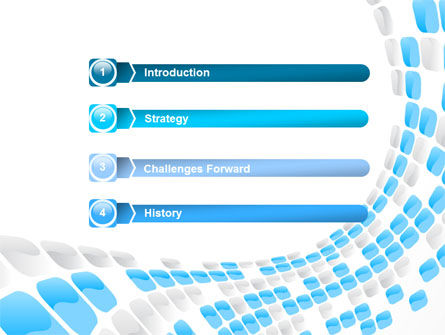 Blue Dots PowerPoint Template Slide 3