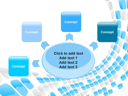 Blue Dots PowerPoint Template Slide 7