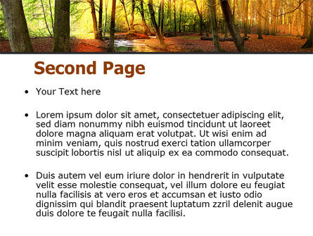 Autumn Forest PowerPoint Template, Slide 2, 08132, Nature & Environment — PoweredTemplate.com