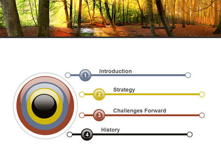 Autumn Forest PowerPoint Template, Slide 3, 08132, Nature & Environment — PoweredTemplate.com