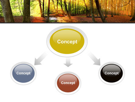 Autumn Forest PowerPoint Template, Slide 4, 08132, Nature & Environment — PoweredTemplate.com