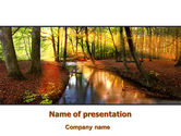 Nature & Environment: Autumn Forest PowerPoint Template #08132