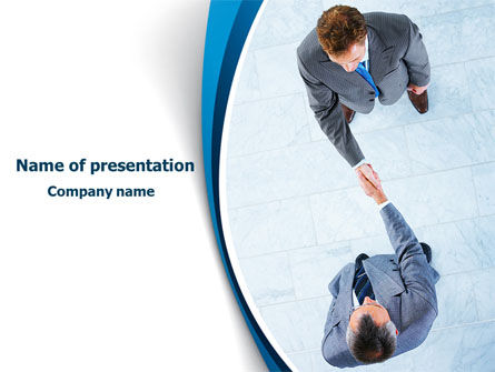Business Handshake PowerPoint Template, 08133, Business — PoweredTemplate.com