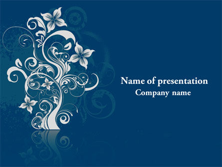 Floral Ornament PowerPoint Template