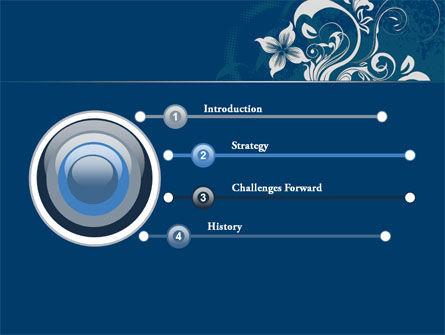 Floral Ornament PowerPoint Template Slide 3