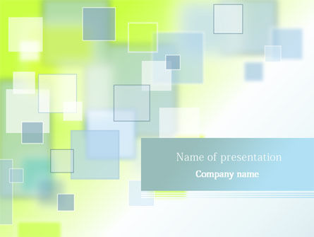 Theme with Squares PowerPoint Template