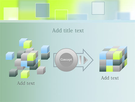 Theme with Squares PowerPoint Template Slide 17