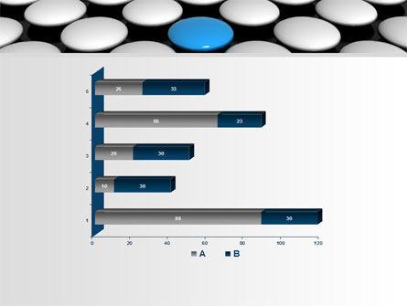 Blue Button PowerPoint Template Slide 11